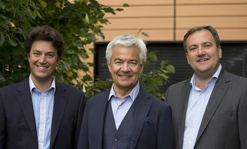 Théophile, Christian et Léonard Prunier