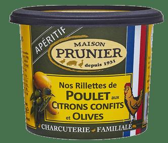 Rillettes de Poulet aux citrons confits et olives